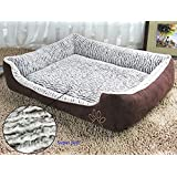 Jasonwell®Rectangle Warm Super Soft Plush Dog Bed,Puppy Pets,Dogs and Cats Cushion Pillow Mat with Removable Washable Cover(XL)