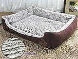 Jasonwell®Pouf pour Chien Rectangulaire Chaleureux Super doux, Couchage pour Chat avec couvercle amovible et Lavable