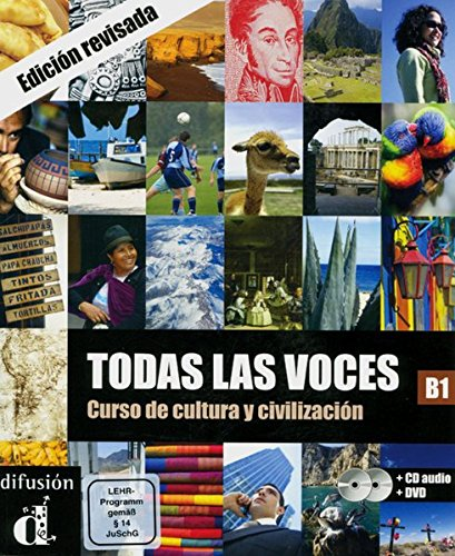 Todas las voces. Curso de cultura y civilización. Lehrbuch + Audio-CD + DVD