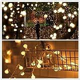 Solar Lichterkette,TechCode Wasserdichte Solarkugel 50 LED Ball String Lichter Solar Power Patio Lichter Weihnachten Lic