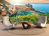 Wandteppiche Vernazza Dorf atemberaubenden Sonnenaufgang Cinque Terre Italien Europa Wall Art Dekor Fototapete Poster Hochwertiger Druck