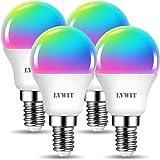 LVWIT Bombillas Inteligente E14, Compatible con Alexa, Google Home Assistant y Smart Life/Tuya App, Bombilla Wi-Fi Golf 5W 47