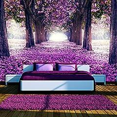 Idea Regalo - murando – Fotomurali 250x175 cm – Carta da parati sulla fliselina - Carta da parati in TNT - Quadri murali XXL - Fotomurale - fiori alberi c-A-0031-a-c