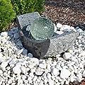 Granit Springbrunnen SB15 mit drehender Glaskugel und LED Beleuchtung Gartenbrunnen von CLGarden bei Du und dein Garten