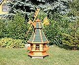 Dekorative Windmühle mit Solar grün Typ 4
