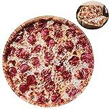 RAINBEAN Pizzadecke, perfekt runde Neuheit Food Wrap Decke EIN riesiger menschlicher Burrito zu Sein (5FT/60Inch, Pizza)