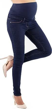 Milano Basic - Jeans Premaman Basico, Super Elastico e Comodo, vestibilità Skinny, Lavaggio Basic, Tanti Colori - Made in Italy