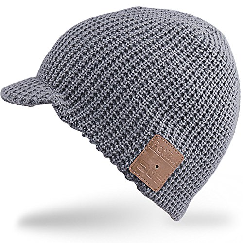 Bluetooth Beanie Hat, Rotibox Winter Outdoor Sport Premium Strickmütze mit Wireless Stereo Kopfhörer Headset Kopfhörer Lautsprecher Mic Hände frei für Iphone Samsung Android Handys (7 Tab Galaxy Samsung 4 Lite)