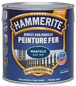 Hammerite - Peinture martelée / Boîte 250 ml - Bleu nuit