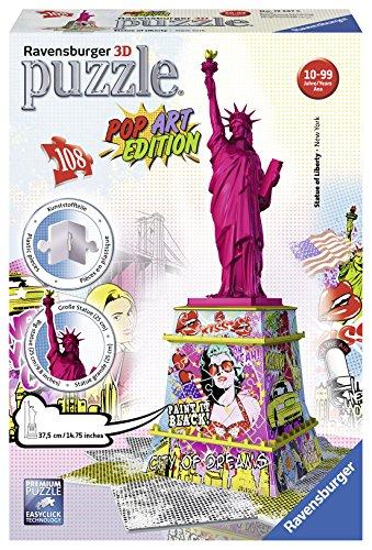 Ravensburger - 12597 - Puzzle 3D Statue Liberté Pop Art - 108 Pièces
