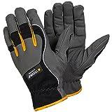 Ejendals Handschuh Tegera 9125 aus Synthetikleder, Größe 8, 1 Stück, grau / schwarz / gelb, 9125-8
