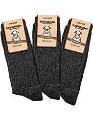 3 Paar Schafwollsocken 100 % Schafwolle Norwegersocken Gr. 35 - 50