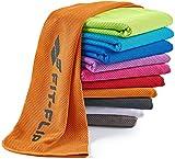 Fit-Flip Kühlendes Handtuch 120x35cm, Mikrofaser Sporthandtuch kühlend, Kühltuch, Cooling Towel, Mikrofaser Handtuch| Farbe: orange, Größe: 120x35cm