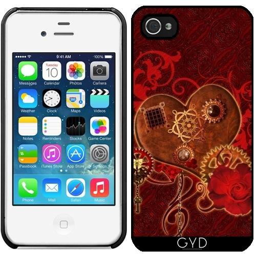 Leder Flip Case Tasche Hülle für Apple iPhone 6/6S - Steampunk Herz by nicky2342 Starre Kunststoff
