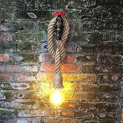 Hines Creative Wandleuchte Verstellbar Retro Industrie Eisen Rohr groß Seil Wand Lampe E27 Licht Korridor Licht Küche Licht Barn Lager Bar Korridor Beleuchtung (Moderne 3 Tier Beleuchtung)
