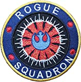 Star Wars Rogue Squadron gelb Bordüre bestickt abzeichen Patch Aufnäher oder zum Aufbügeln 10cm