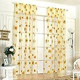 'Kayi Fenster Sonnenblume Vorhang der Fenster Tasche Dekoration der Fenster blau gelb 37.40