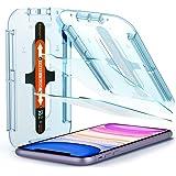 Spigen, 2 stuks, Screenprotector compatibel met iPhone 11, iPhone XR, Glas.tR EZ Fit, met sjabloon voor installatie, 9H gehar