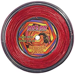PRO'S PRO HEXASPIN TWIST 1,25mm 200m rosso