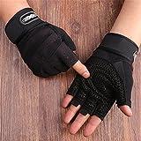 ZYPMM Fitness Handschuhe Männer Outdoor-Sport-Halbfingerhandschuhe rutschfeste Handschuhe Turnhalle Hantel Gewichtheben lange Handgelenk ( Color : Schwarz )