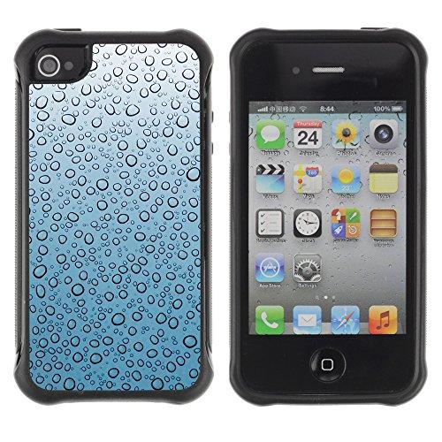 Graphic4You Blue Flowers Muster Design Harte Hülle Case Tasche Schutzhülle für Apple iPhone 4 und 4S Design #4
