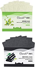 FRCOLOR Natural Bamboo Charcoal Oil Absorbing Tissues Green Tea Facial Blotting Sheets for Oily Skin, 80 Count(Pack of 2)