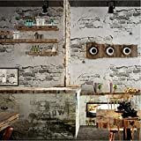 CICDGD Tapeten Tapeten-Retro- Weinlese-Zement-Ziegelstein-Wand-Muster 3D Tapeten-Rolle für Wohnzimmer/Schlafzimmer / Fernsehwand/Bekleidungsgeschäft, C