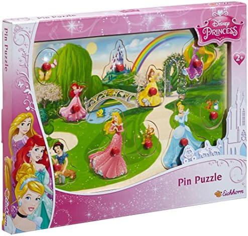 Eichhorn - 100003348 - Puzzle à buttons - Disney - Princess en Bois - 11 pièces | Conception Moderne