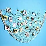 Dremisland Foto hängende Bilderrahmen Collage Fotorahmen Fotogalerie Bildergalerie Fotocollage mit 40 kleinen Holzklammern (Weiß)