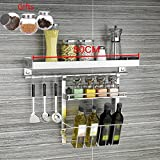 Küchenmöbel-WXP Keine Notwendigkeit, Edelstahl-Wand-hängenden Küchengeschirr-schiefe Mund-Zahnstangen-Multifunktionswein-Gestell-Haushalts-Speicher zu lochen WXP-Küchenschränke und Besteckschränke