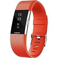 FunBand Compatible per Cinturino Fitbit Charge 2 Edizione Speciale Morbido Sportivo di Ricambio in TPE, Accessori per…