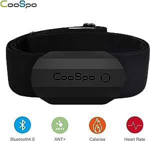 CooSpo - Cintura toracica Bluetooth & ANT+, sensore di frequenza cardiaca, sensore HRM IP67, impermeabile per Runtasic Pro, Wahoo, Elite HRV, Endomondo, Tomtom