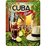Targa di metallo 15 x 20 cm – Cocktail-Time - Cuba Libre
