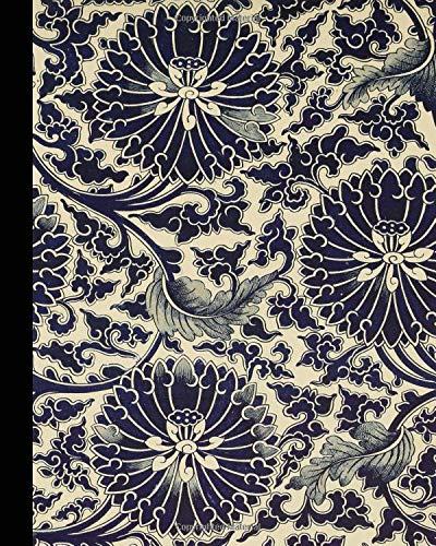 Vintage illustration journal: Unique designed dot grid journal for the vintage illustration lover - Antique print from Japanese ceramic art