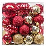 Valery Madelyn 50 Piezas Bolas de Navidad de 3-8 cm, Adornos Navideños para Arbol,...