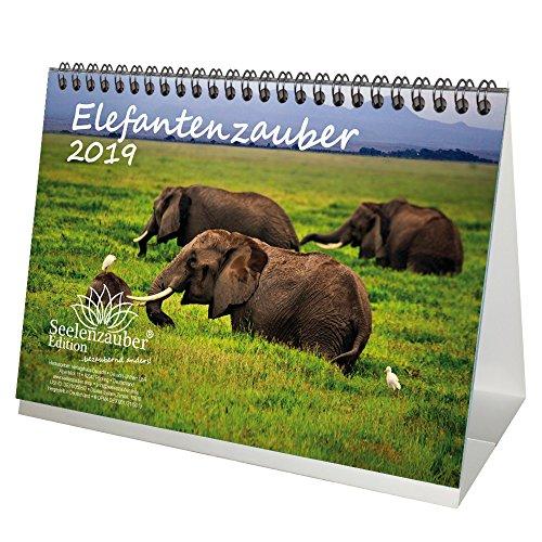 Elefante mágica · DIN A5· Premium mesa/Calendario 2019· Elefantes · África ·...