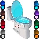 Lampada Notturne igienici Bagno WC Led Luce con notte Sensore di Movimento, 8 cambiamento di colori