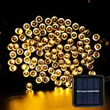 Solar Fairy String Lights – Solar Garden Lights 200 LED 8 Modes Outdoor Waterproof Decorative Lights for Outdoor, Gardens, Homes, Party (Warm White)