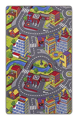 7a320ac37e215f misento Kinderteppich Spielteppich Straßenteppich 165x100 cm