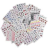 AIUIN 50 Stück Nail Art Plates Stamping Blumen Water Transfer Nagel Sticker Wasser Aufkleber Tattoo Nageldesign Maniküre Vanyda Stempel Schablonen