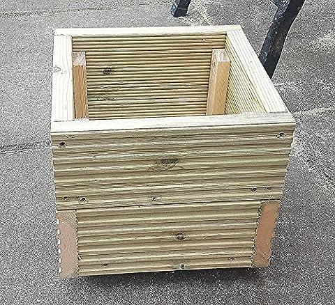 Carré Deck Jardinière 290mm faite à la main en bois Boîtes de pot de fleurs Pots de fleurs en bois traité sous pression de pots de jardin en bois avec une finition naturelle