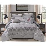 Double Comforter 8Pcs Set By Hours, King Size,Yuki-02
