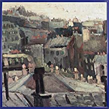 Vincent Van Gogh Póster Impresión Artística con Marco (Plástico) - Vista De Los Tejados De París, 1886, Detalle (40 x 40cm)