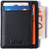Portafoglio Anti-RFID - Portafoglio Ottimo Sottile & Sicuro Minimalista di Mercor Leather - Materiale di Qualità Superiore in PU Cuoio, Elegante & Salva-Spazio, 7 Tasche Per Carte di Credito & Soldi