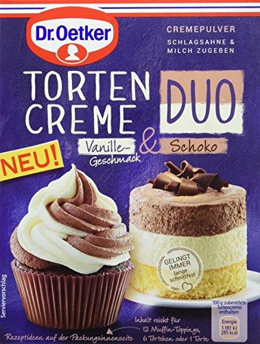 Dr. Oetker Tortencreme Duo Vanillegeschmack und Schoko, 8er Pack (8 x 105 g)
