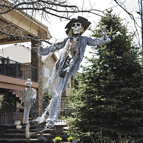 Halloween Skelett-Vogelscheuche mit Horror-Totenkopf ca. 82cm Grusel-Party-Deko (Vogelscheuche Halloween Für)