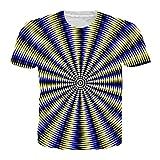 3D T-Shirt Männer Frauen Whirlpool Drucken Lustige Sommer Top Hip Hop Streetwear T-Shirt Homme 3 L