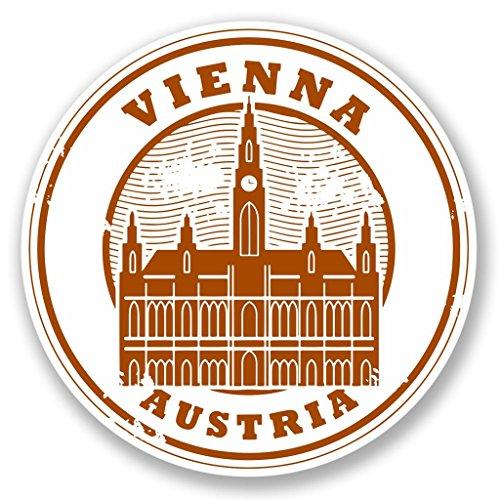 Preisvergleich Produktbild 2x Wien Österreich Vinyl Aufkleber Aufkleber Laptop Reise Gepäck Auto Ipad Schild Fun # 4228 - 10cm/100mm Wide