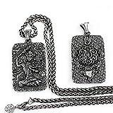 Beydodo Titan Halskette Herren Buddha Buddhismus Anhänger Kette Hip Hop Freundschaftskette