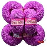 #8: Vardhman Acrylic Knitting Wool, Pack of 6 (Purple) (Pack of 6)